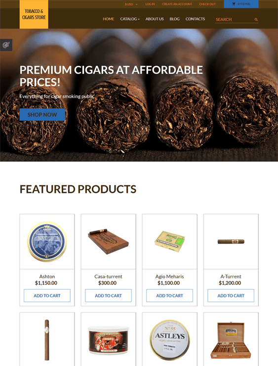 tobacco responsive virtuemart themes