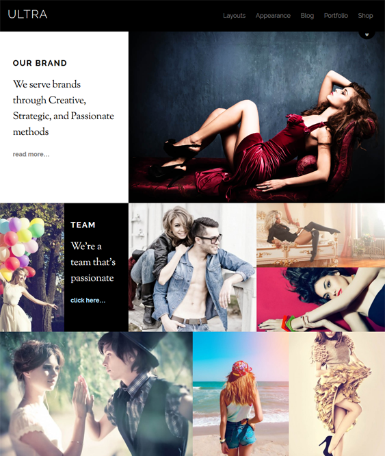 ultra portfolio wordpress themes