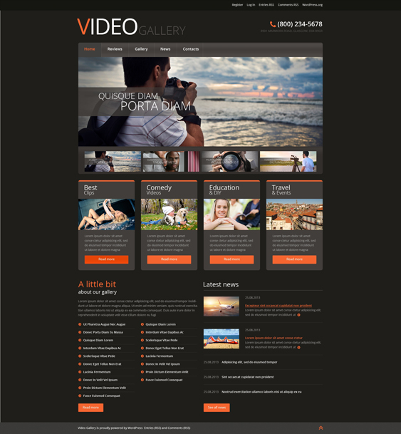 video wordpress themes lab