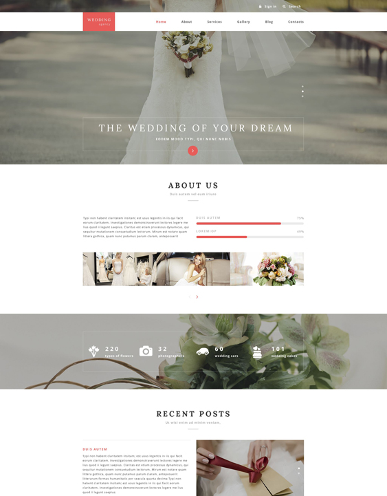 wedding clean drupal themes