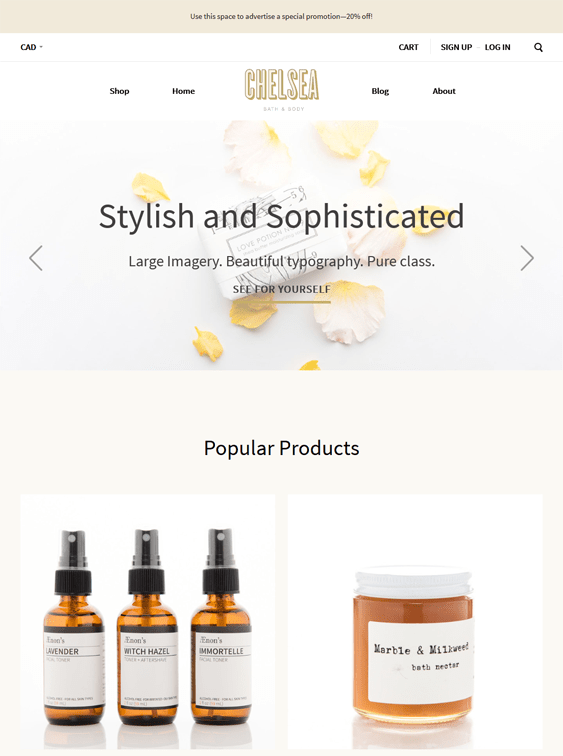 chelsea warm cosmetics beauty products bigcommerce themes