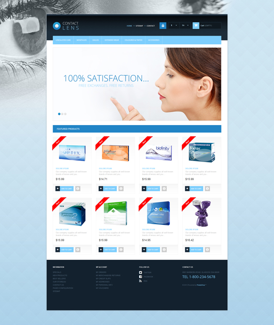 contact lens medical prestashop themes 4