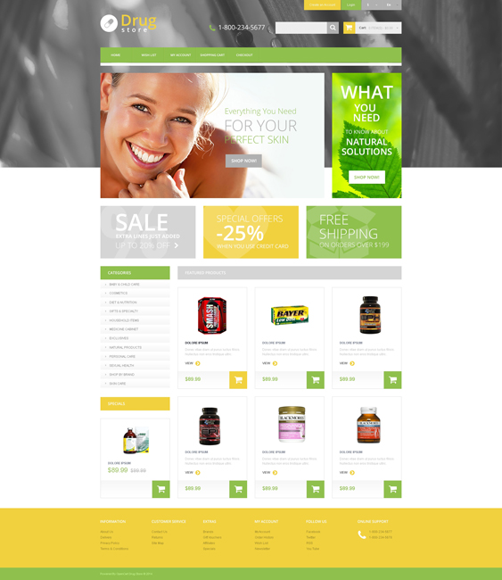 drug store medical health opencart themes