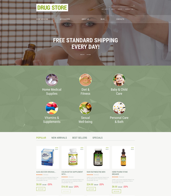 drug store medical prestashop themes 1
