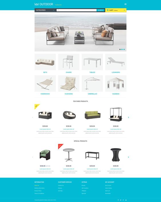 furniture home decor interior design opencart themes