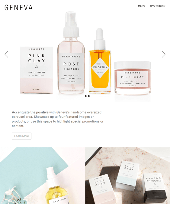geneva pastel cosmetics beauty products bigcommerce themes