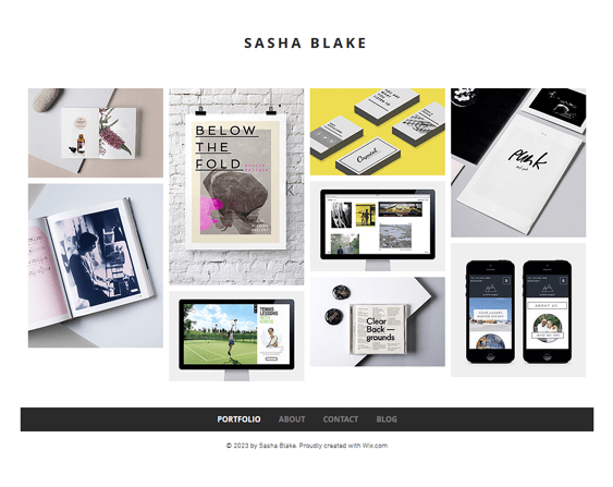 graphic design portfolio wix templates