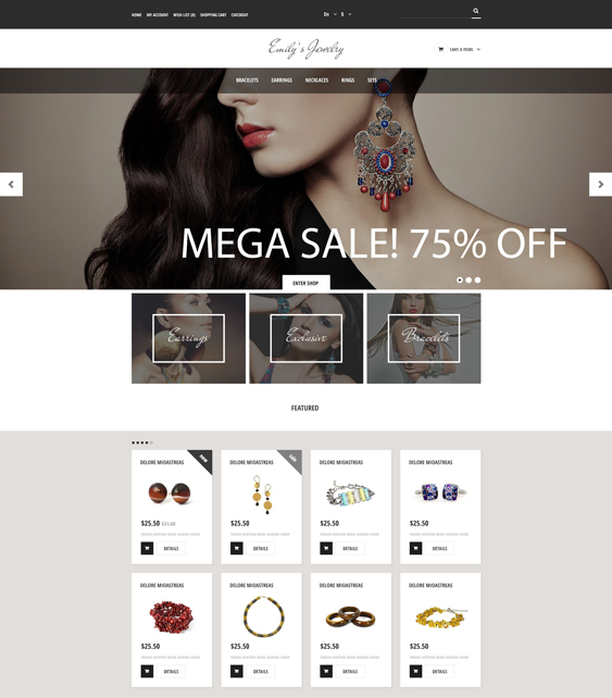handmade jewelry watch opencart themes