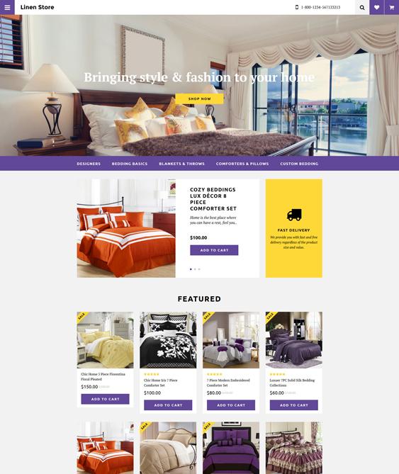 furniture linen home decor interior design opencart themes