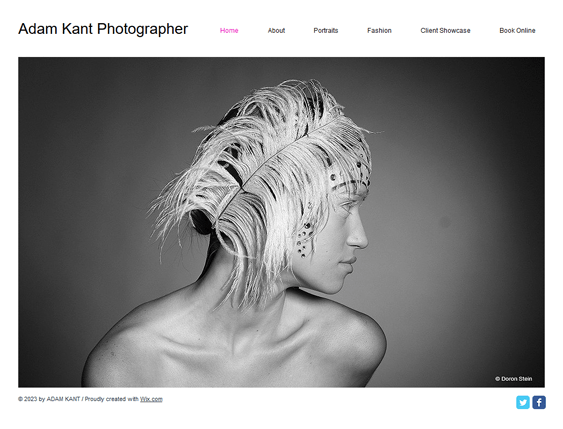 online photos portfolio wix templates