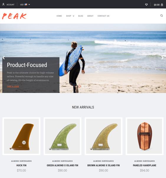 peak clean bigcommerce themes