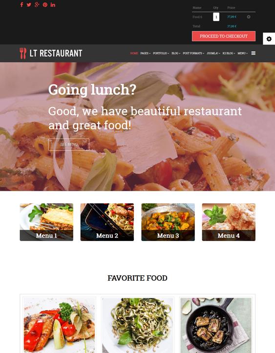 restaurant hikashop themes