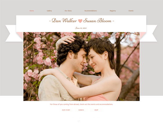 romantic engagement wedding wix templates