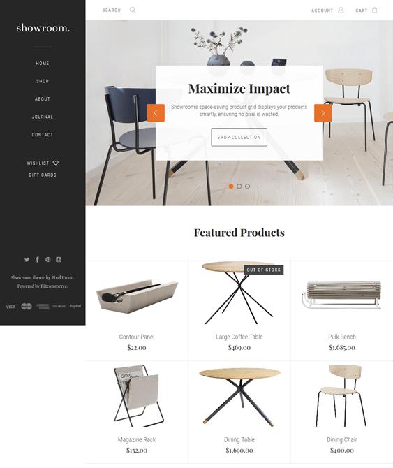 showroom bigcommerce themes home decor furniture