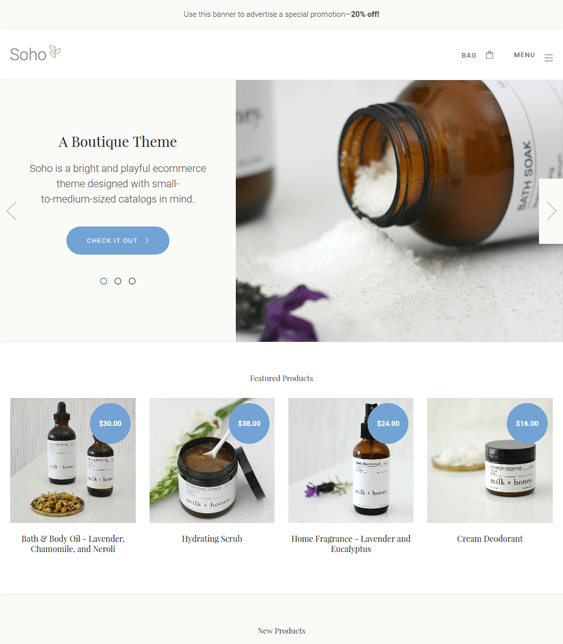 soho cosmetics beauty products bigcommerce themes