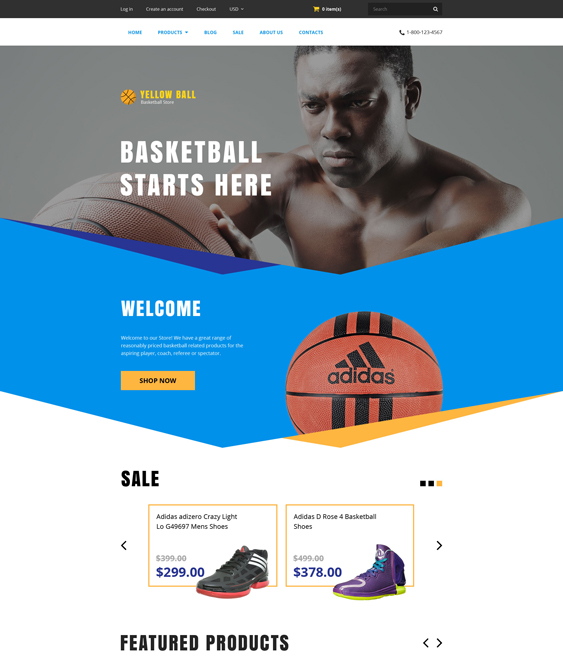 yellow ball sports shopify themes