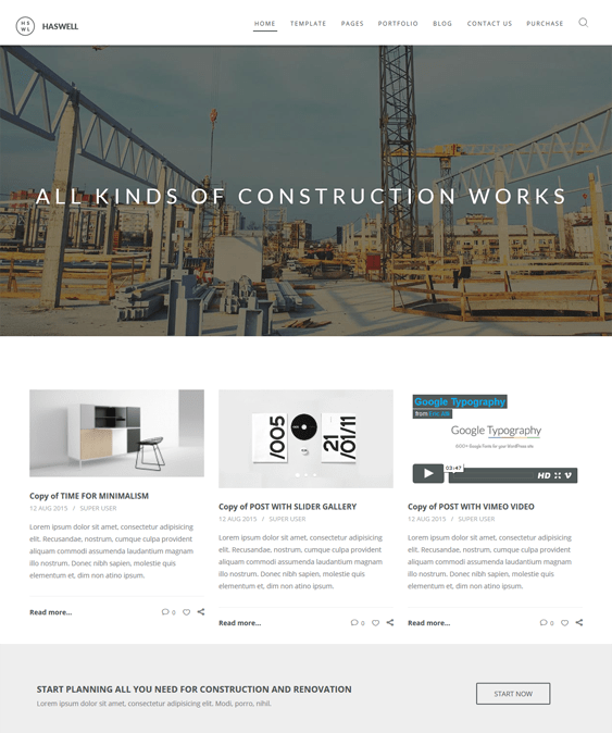 haswell construction contractors joomla templates