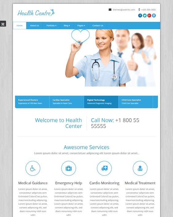 healthcentre medical wordpress themes