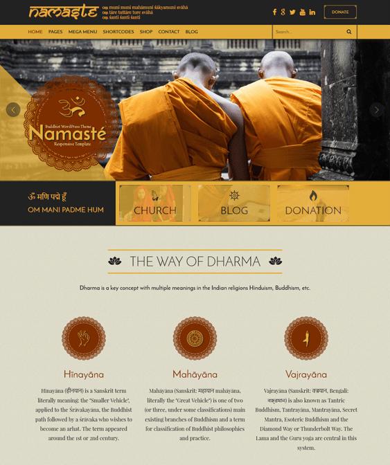 namaste church wordpress themes