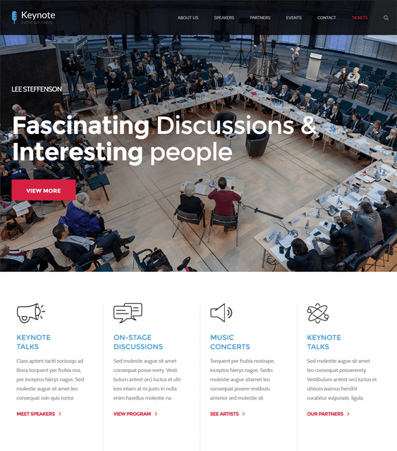the core events wordpress themes