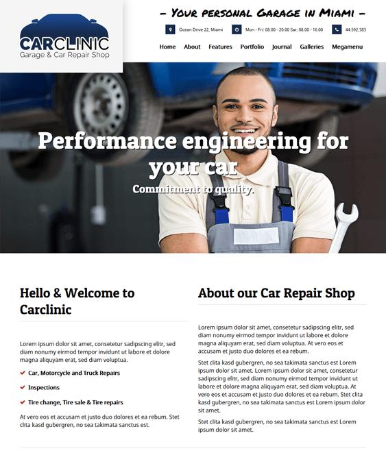 carclinic car vehicle automotive wordpress themes