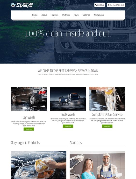 cleancar vehicle automotive wordpress themes