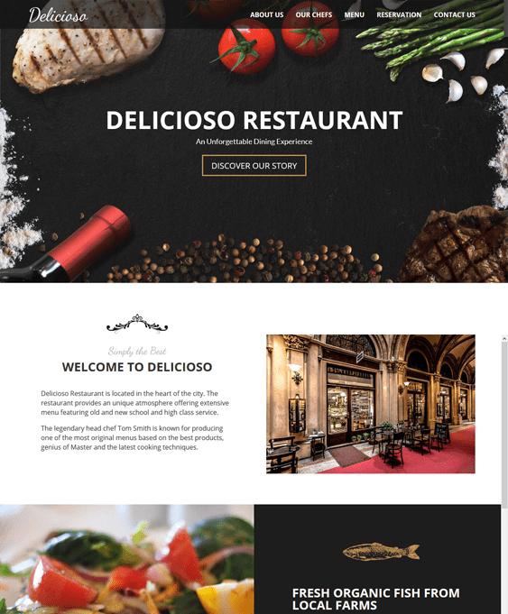 delicioso restaurant wordpress themes