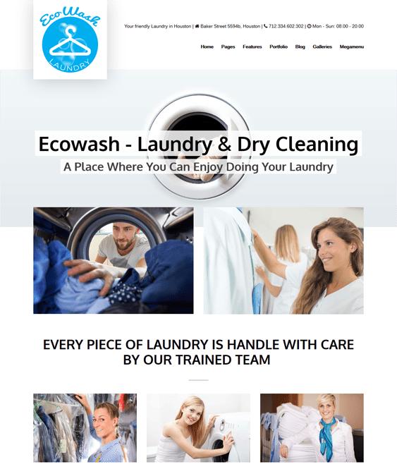 ecowash cleaning company wordpress themes