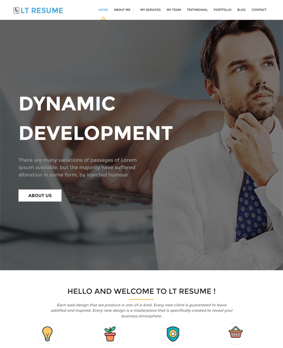 lt cv resume wordpress themes