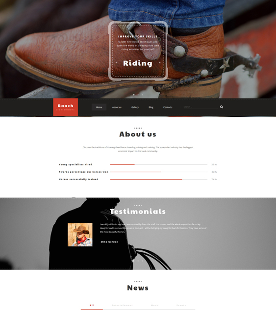 rancho farms agriculture wordpress themes