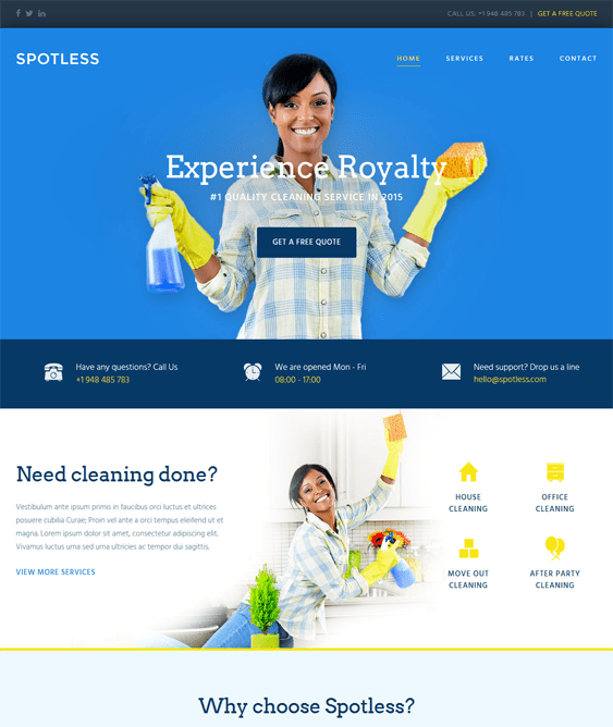 the core cleaning company wordpress themes