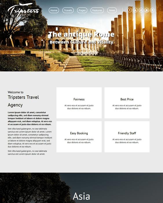 tripsters travel wordpress themes