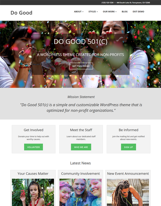 do good charity nonprofit wordpress themes