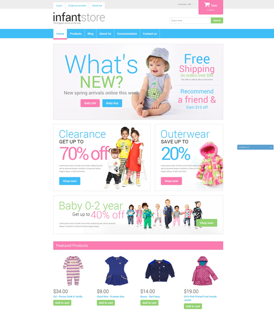 dressing kids shopify themes