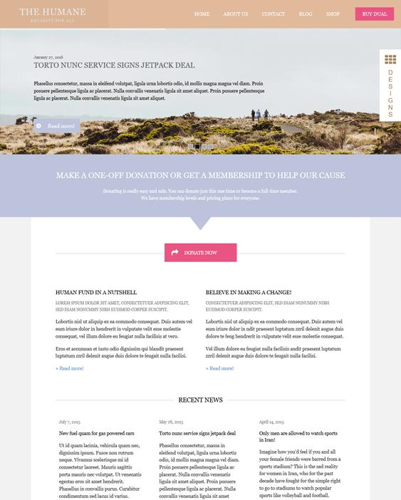 dual charity nonprofit wordpress themes