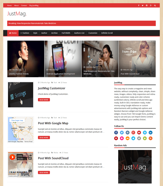 justmag magazine news wordpress themes