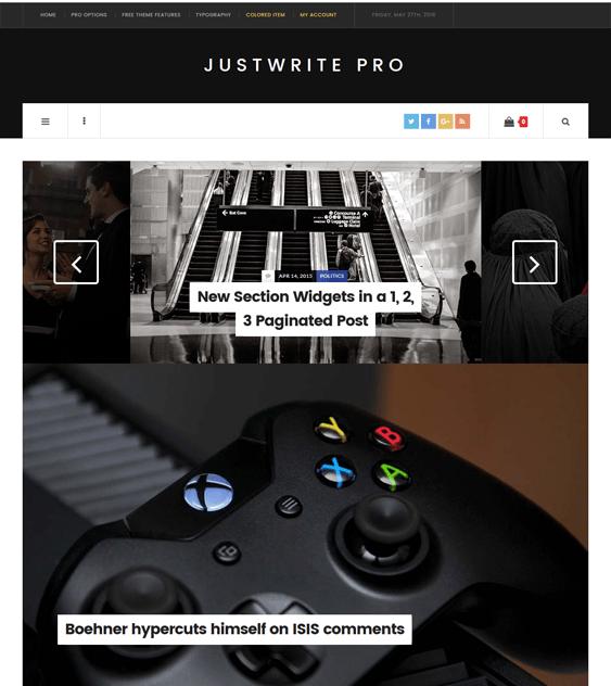 justwrite magazine news wordpress themes