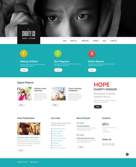metaphor charity nonprofit wordpress themes