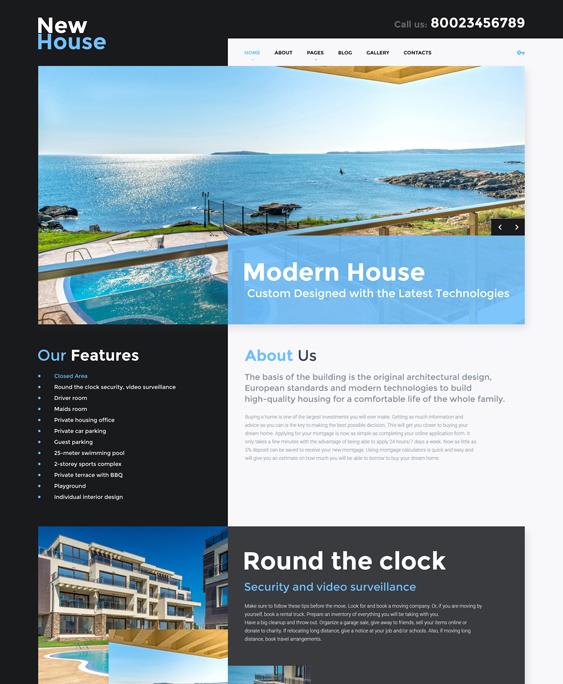 new house real estate joomla templates