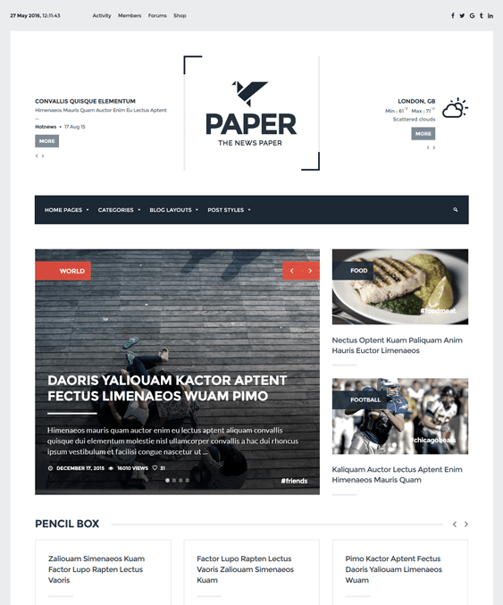 newspaper magazine news wordpress themes