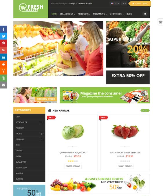 ap fresh food drink shopify themes