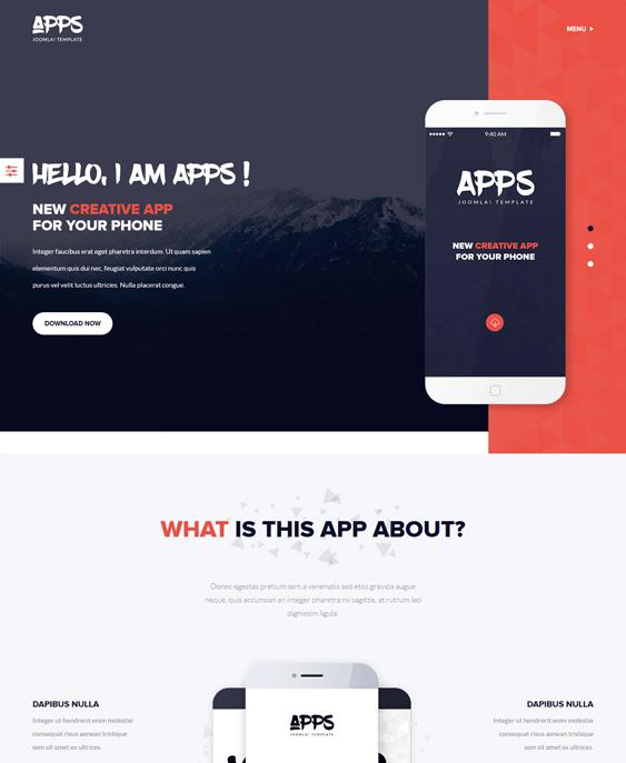 promoting apps joomla templates