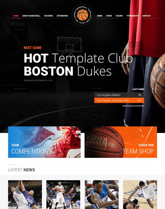 basketball j2store templates