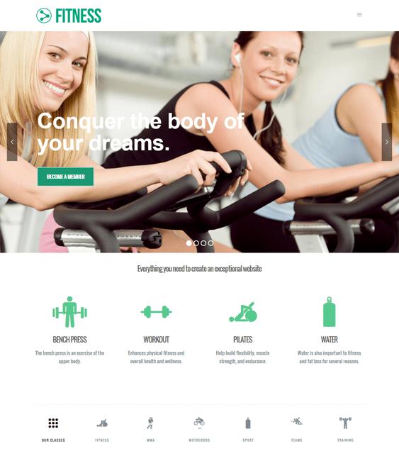 beyond gym fitness wordpress themes