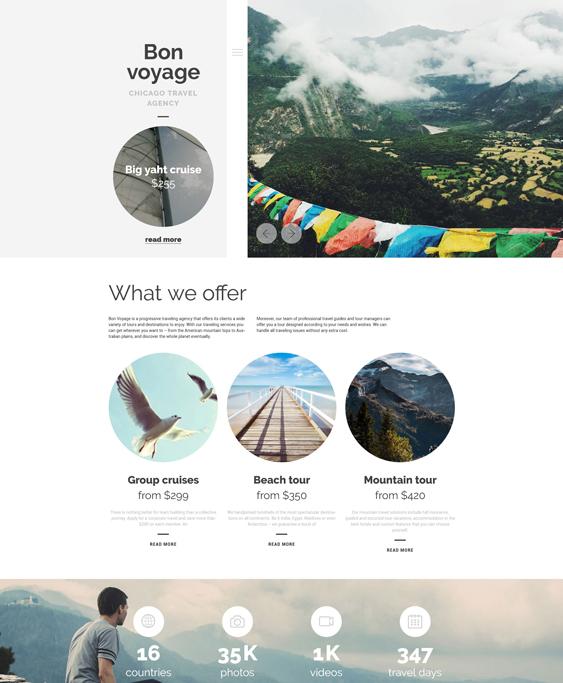 bon voyage travel wordpress themes