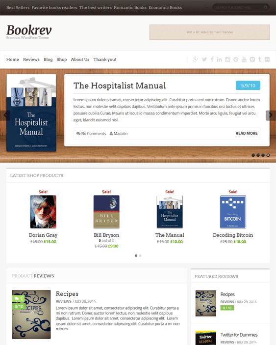 bookrev book wordpress themes