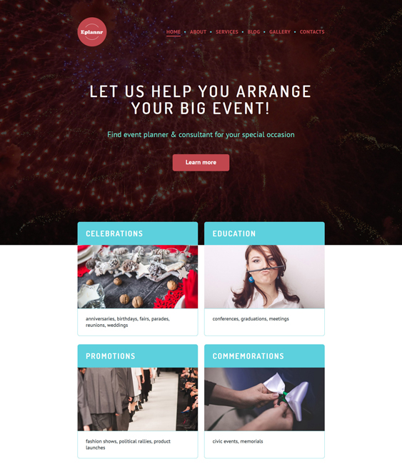 eplannr events planner wordpress themes