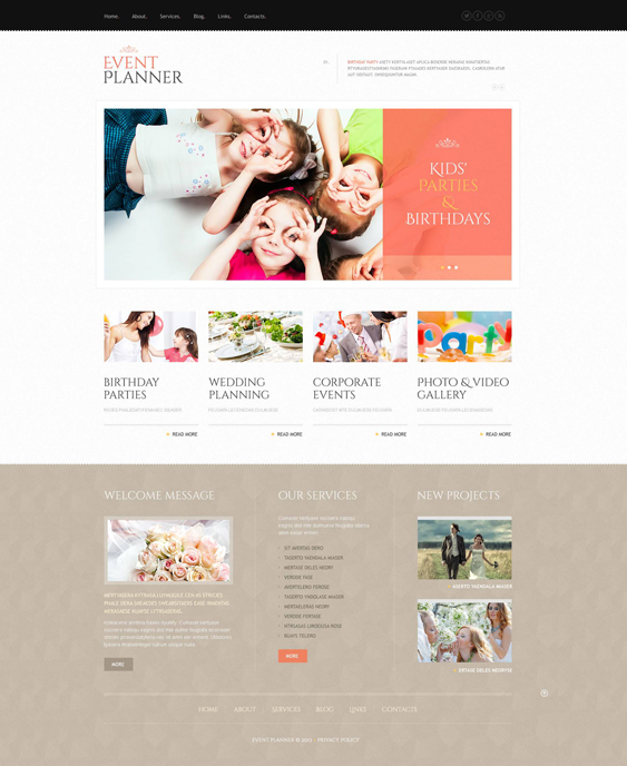 event planner wordpress themes