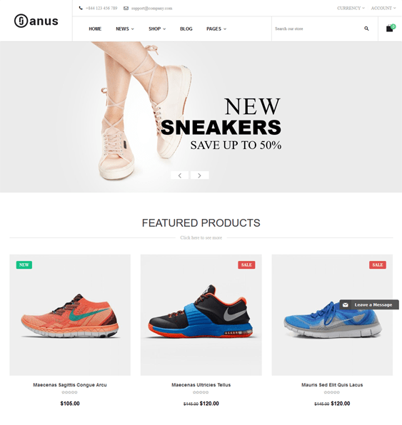 janus shoe store shopify themes