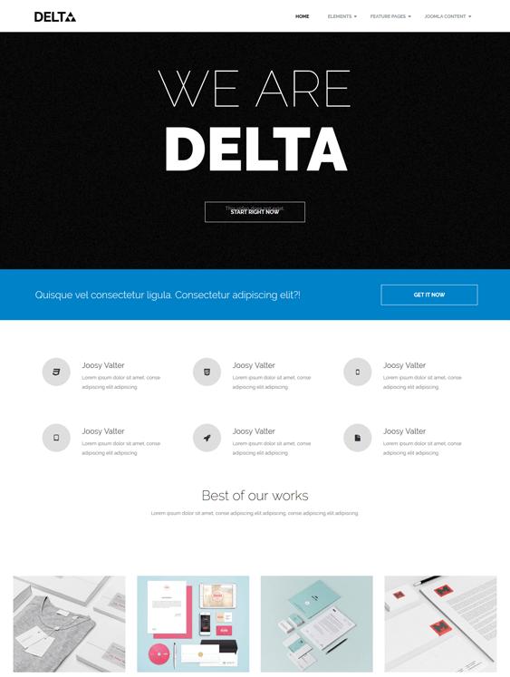 os delta portfolio joomla templates